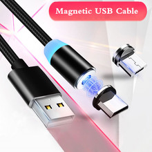 LED Magnetic USB Cable Charging USB Type C Cable Magnet Charger Data Charge Micro USB Cable for Samsung Xiaomi Huawei USB Cord все цены