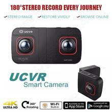 Livraison gratuite! numérique UCVR Eye Sport Caméra 360 Degrés Double-lentille 4 K Panoramique 3D VR Caméra