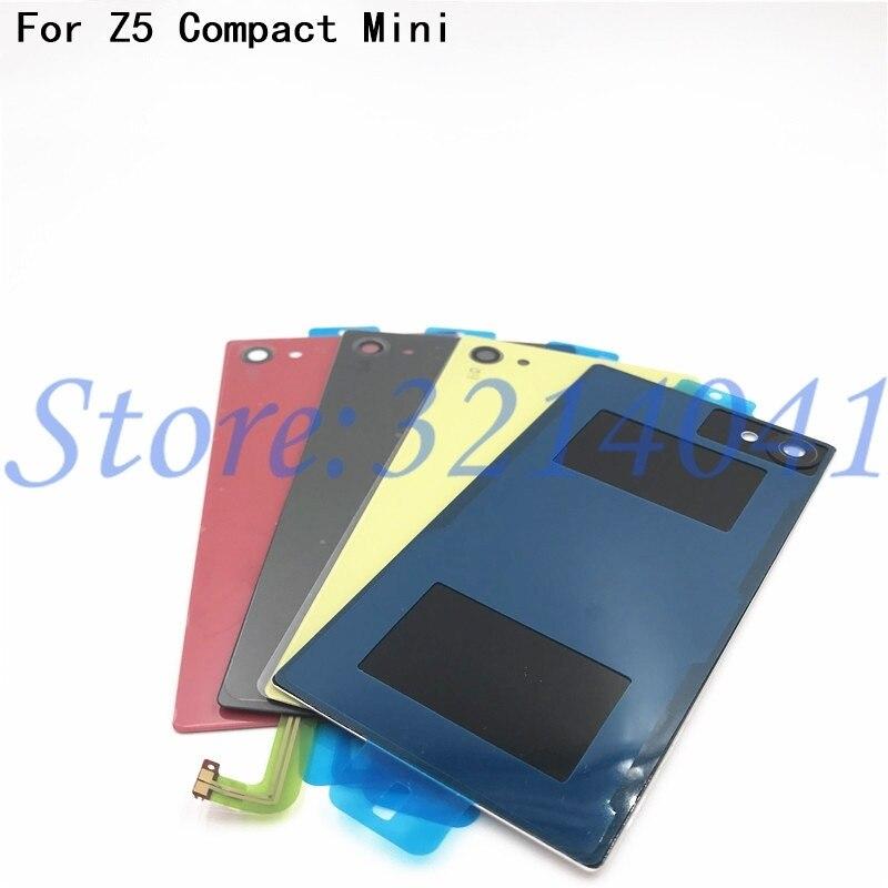 Original volta porta da bateria de vidro habitação traseira capa para z5 mini substituição para sony xperia z5 compacto e5803 e5823 + nfc