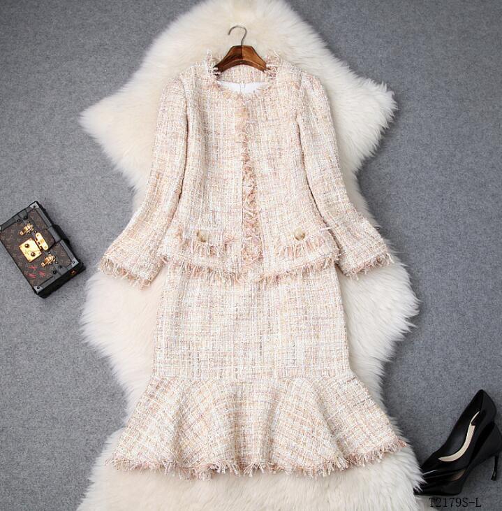 Nouveautés Hiver Automne 2018 Photo Femmes Eurropean Color Tempérament Mode T2179 Style Couleur Costume Cltohes Solide Casual pfqEHH4an