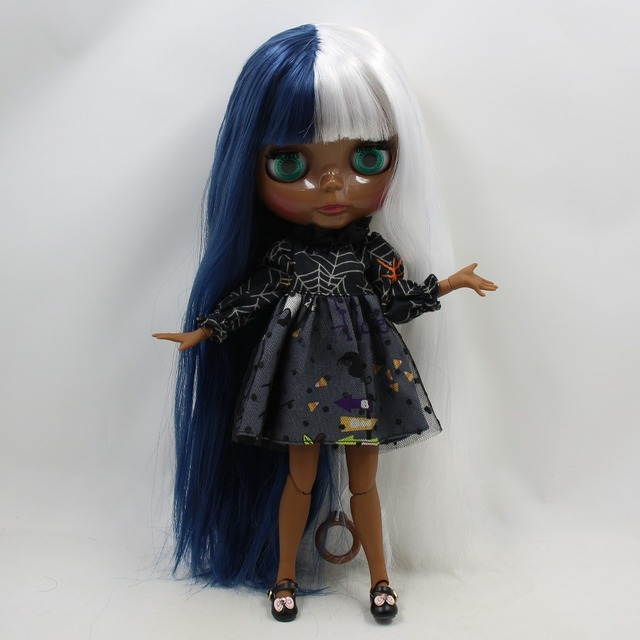 TBL Neo Blythe Doll Blue White Hair Jointed Body