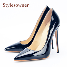 Stylesowner Brand Women Shoes High Heels Pumps Stiletto Sexy Classic Shallow Mouth Wedding