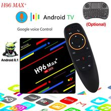 H96 Max+ TV Box Android 8.1 4 k Ultra HD Media Player 4 gb RAM 32 gb ROM H.265 WiFi 2.4G voice control Media Player pk h96 pro