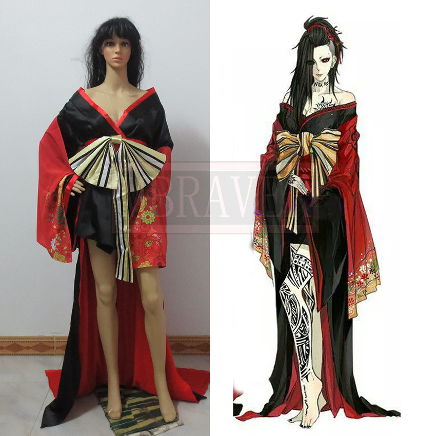 Токио Упырь Ута COS кимоно платье традиционные Костюмы для косплея женские Ver костюм для Хэллоуина для взрослых