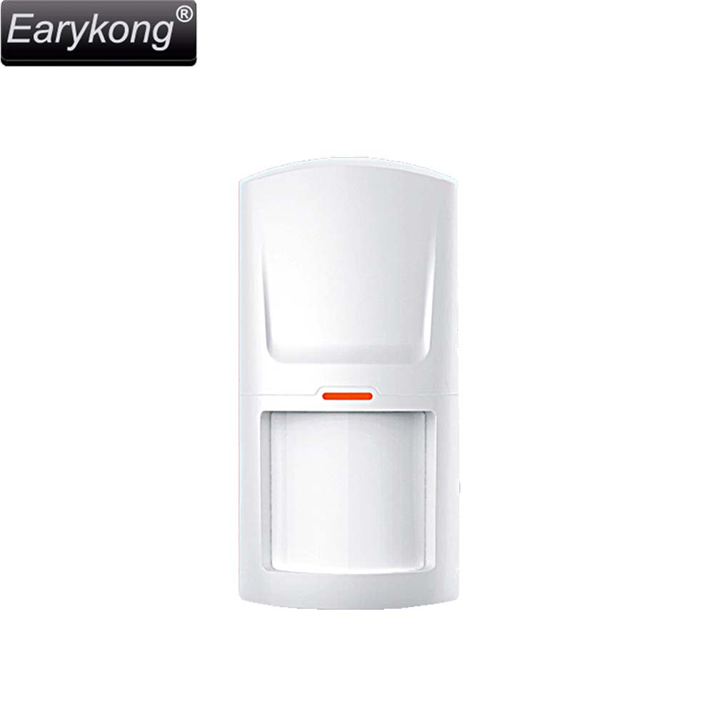 Free shipping wireless GSM font b alarm b font system 433 MHZ White infrared detector font