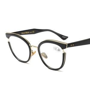 Image 1 - 2019 Nuove Donne di Disegno di Stile di Occhiali da Lettura di Qualità Cerchio Pieno di Moda Rotonda Presbiopia Occhiali per Le Donne Oculos De Leitura
