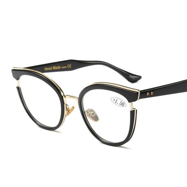 2019 ออกแบบใหม่ผู้หญิงคุณภาพสูงแว่นตาอ่านหนังสือเต็มรูปแบบขอบรอบ Presbyopia แว่นตาผู้หญิง oculos de leitura