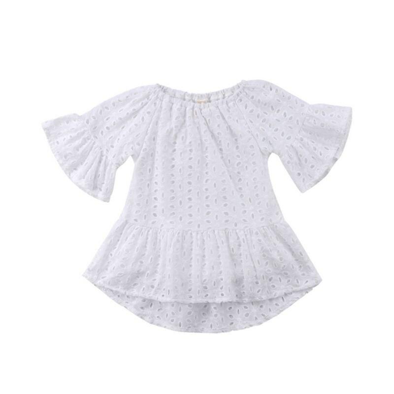 Летняя одежда для малышей милые Одежда для детей; малышей; девочек принцессы кружевное платье с цветочным рисунком Открытое платье Повседн...