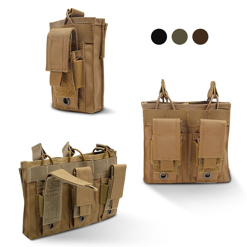 Military Molle Pouch Tactical Single/Double/Triple Open-Top Magazine Pouch Multi-function Airsoft Pistol Hunting Fast Ammo Bags