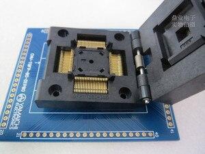 Image 2 - QFP80 TQFP80 QFP11T080 005 gniazdo do wypalania złota powlekania galwanicznego produktów płaskich IC badania QFP80 0.65mm 12*12mm + 14*14mm gniazdo testowe stanowisku do badań