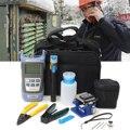 12 stks/set Glasvezel FTTH Tool Kit voor FC-6S Fiber Cleaver en Optische Power Meter 5 km Visual Fault Locator draad stripper