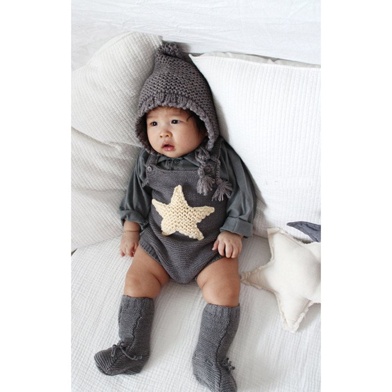 2017 Tiny Baby Girl Cute Knitted Rompers Infant Sweet Overalls Toddler Baby Girls Boys Lovely Jumpsuit Clothing roupas de bebe 2017 baby knitted rompers girls jumpsuit roupas de bebe wool baby romper overalls infant toddler clothes girl clothing 12m 5y