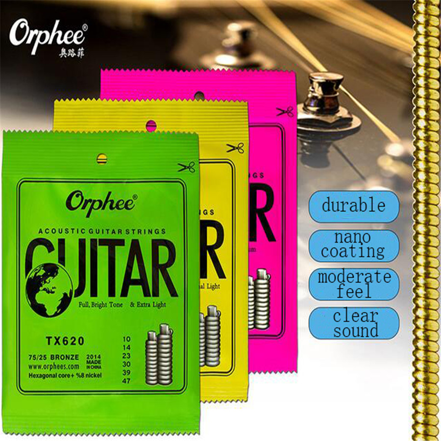 Acoustic Classic Guitar String Hexagonal Core Bronze Bright Tone Strings For Stratocaster Electric Guitar Accessories