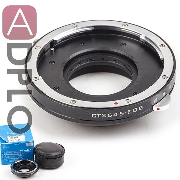 Suit para Contax Montagem da Lente para Canon Adplo para Ctx645-eos Abertura Ajustável Câmera Adaptador 645 d Slr