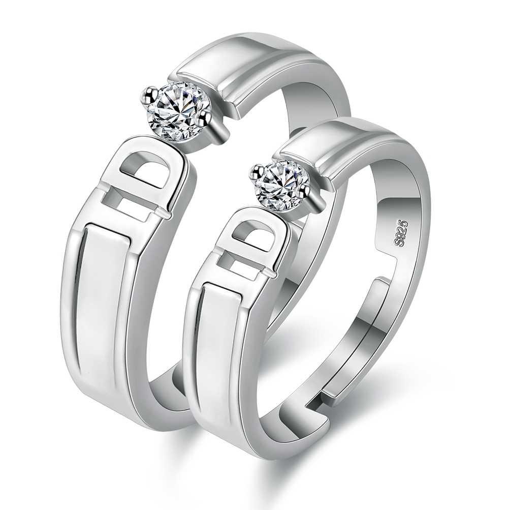 2ชิ้นแหวนคู่เพทายแหวนVashiriaแฟชั่นชุบทอง925เครื่องประดับโรแมนติกมงกุฎอิมพีเรียลและข้ามคนรักแหวน