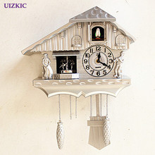 Fashion wall clock window the heralds swing pocket watch modern brief cuckoo clock