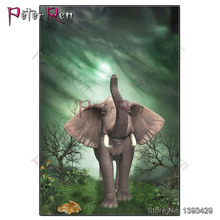 Peter ren Diamond Embroidery Cartoon Elephant Diy diamond Painting crystal Cross Stitch pattern rhinestones art Craft Home Decor