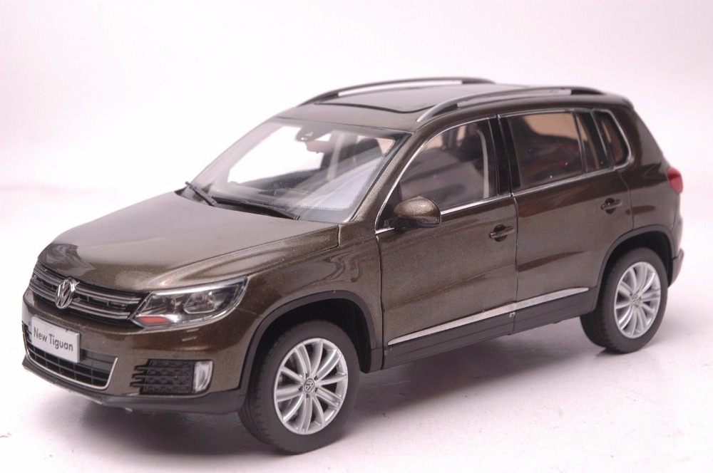 1:18 Diecast Model for Volkswagen VW Tiguan 2013 Brown SUV Alloy Toy Car Miniature Collection Gifts