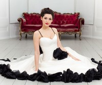 Simple Spaghetti Strap Ruffled Button Chiffon A Line Long Train New Black And White Wedding Dresses