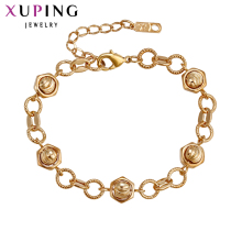 Xuping Fashion Bracelet Hot Sale Romantic Luxury Bracelets Gold Color Plated Women Bracelets Gift S16.2\S31,2--73598