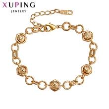 Xuping Fashion Bracelet Hot Sale Romantic Luxury Bracelets Gold Color Plated Women Bracelets Gift S16.2\S31,2--73598