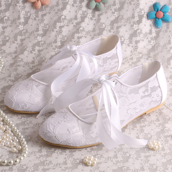 Magic Custom Handmade White Lace Ladies Elegant Flat Shoes Wedding Lace Up  Size 7 In Womenu0027s Flats From Shoes On Aliexpress.com | Alibaba Group