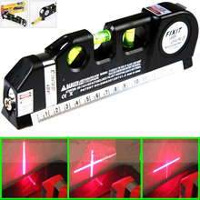 New Multipurpose laser level line lasers Horizon Vertical Measure Tape Ruler Tool with Tape Measure Analytical Instruments