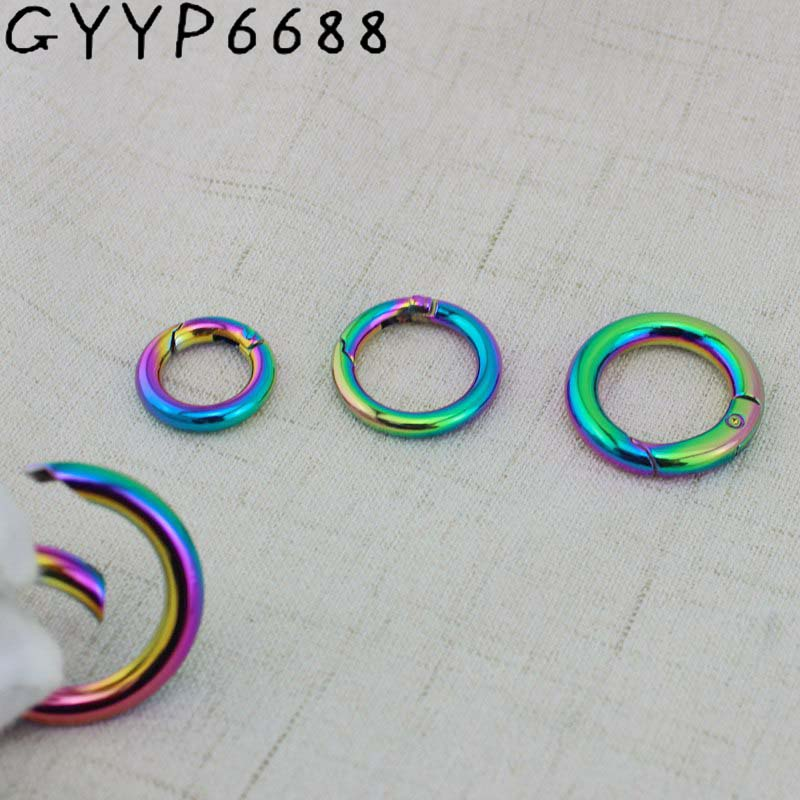 10pcs 30pcs Rainbow Snap Clip Trigger Spring Ring Making Purse Bag Handbag Handle Connector  For Making Your Purse Bag Handbag