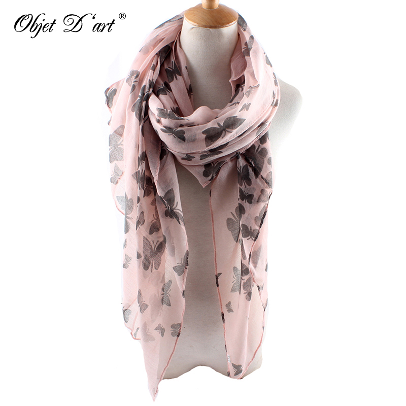 37100825baf US $5.43 20% OFF|Wholesale New Fashion Women Butterfly Print Soft Long  Scarf Cotton Scarves Neck Wrap Shawl Stole Spring Autumn Scarves for  Women-in ...