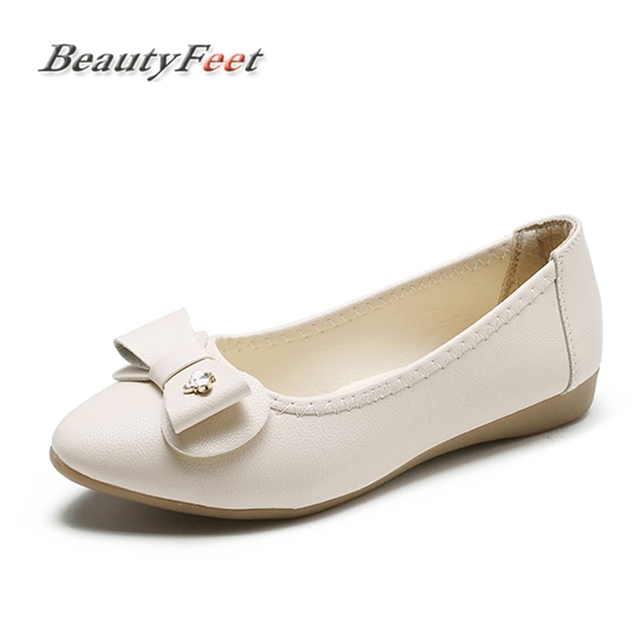 fcfbdc811ceb3f New Fashion Women Shoes Woman Loafers Flat Heel Bow Knot Nurse Boat Shoes  Female Ballet Flats