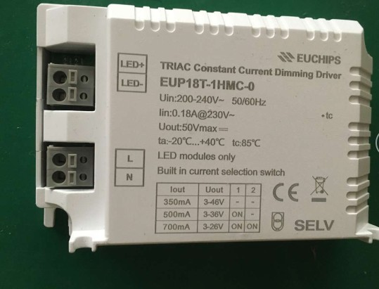Free Shipping 18W EUP18T-MC-0 Silicon controlled multi stage constant current dimming power supply current dialing code optional