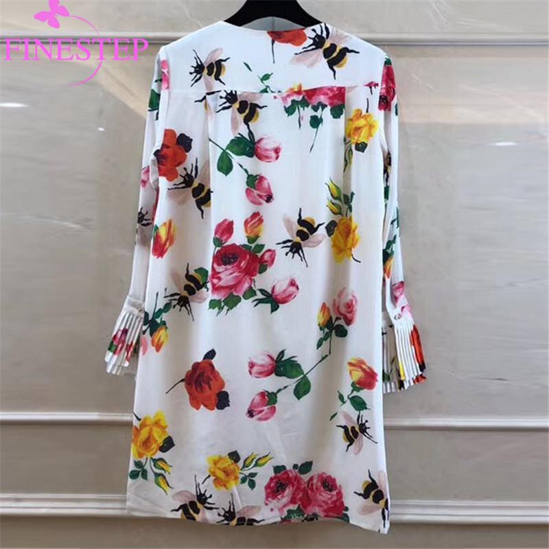 Soirée Dames Robe Fantaisie Mode Multi Qualité Les Pour Imprimé Femmes Parti Design Robes De Haute Fleur Soie xqnCpnwY