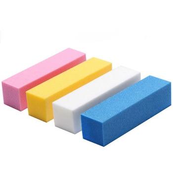 5PCS Nail file high foam four-sided nail polishing and rubbing strip tool