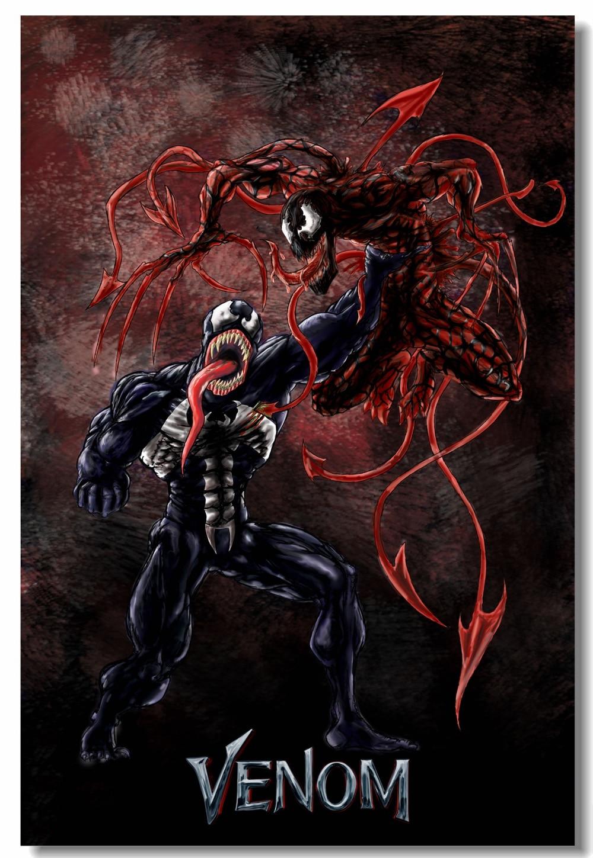 Custom Canvas Wall Decor Marvel Venom Poster Venom Vs