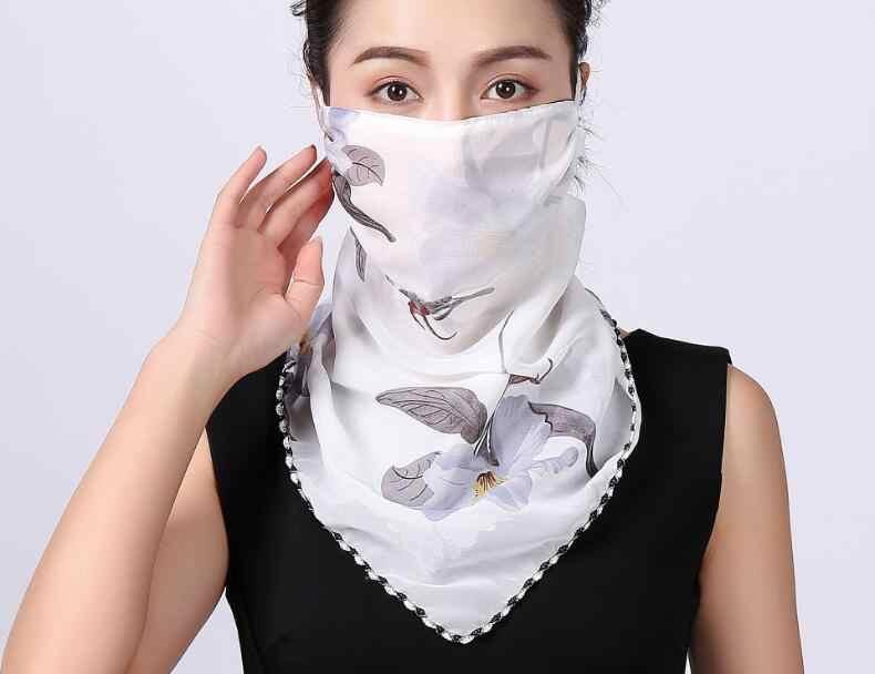 ร้อนขายฤดูร้อนฤดูใบไม้ผลิ Breathable ผู้หญิงคอป้องกันใบหน้าหน้ากาก sun Shade anti - dust mask ปาก - muffle ชีฟอง M40