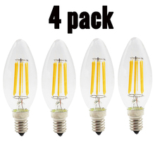 2W 4W 6W E14 Led Filament Candle Light Bulb 220v 110v 360 Degree Warm Cool White LED Edison Candle Lamp For Home Decoration led edison lamp c35 e14 led candle light filament retro clear lamp 2w 4w 6w 220v 240v cold warm white for chandelier
