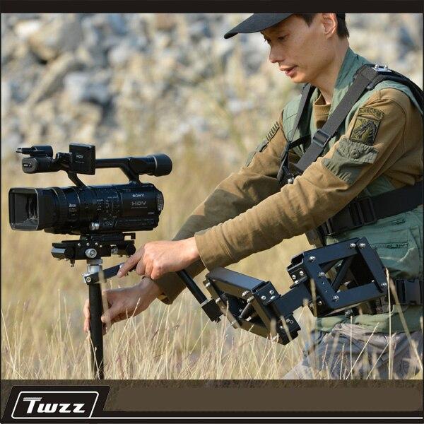Twzz stabilisateur à main/gilet double usage stabilisateur monopode DSLR stabilisateur système épaule