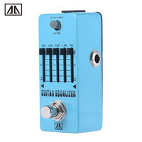 AROMA AEG 5 5 Band Graphic EQ Guitar Equalizer Effect Pedal Aluminum Alloy Body True Bypass
