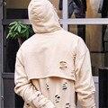 Mens Destroyed Hoodie Kanye West Oversize Distressed Broken Hole Sweatshirts High Street Punk Rock Hoodies Special Hoody Women