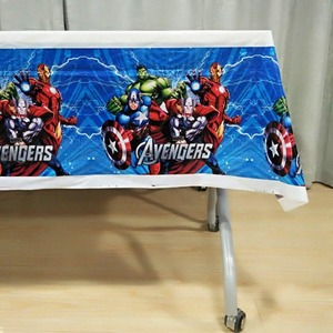 Image 5 - 108cm*180cm Avengers Party Decorations Superhero Party Supplies Tablecloth For Kids Birthday Festival Disposable tablecloth set