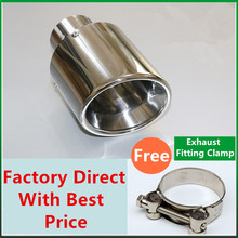 Newest Style stainless steel universal exhaust system end pipe car exhaust tip 1 piece