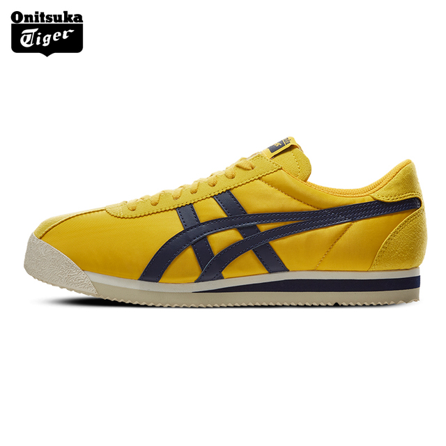 the latest 591d3 7aec1 US $215.87 |Onitsuka Tiger Vintage Casual Shoe for Women Men Cushion Insole  Outdoor Comfortable Sneakers Badminton Shoes TIGER CORSAIR D747N-in ...