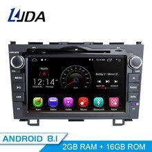 LJDA 2 Din Android 8,1 автомобильное радио для Honda CRV CR V CR-V 2006-2011 Автомобильный мультимедийный плеер стерео Авто аудио gps DVD видео ips RDS