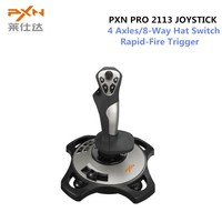PXN PRO 2113 Wired 4 Axles Flying Game Arcade Joystick Controller Professional Gaming Gamepad Flight Stick