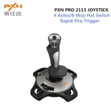 Pxn Pro 2113 Wired 4 As Roda Terbang Permainan Arcade Joystick Controller Gaming Profesional Simulator dengan Keyboard Pemetaan(China)