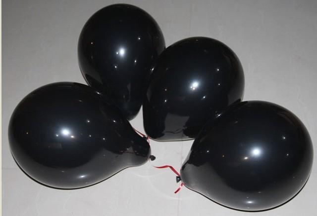 10 дюймов белый черный светонепроницаемые красочных латексные Шарики для дня рождения Свадебная вечеринка украшения оптом