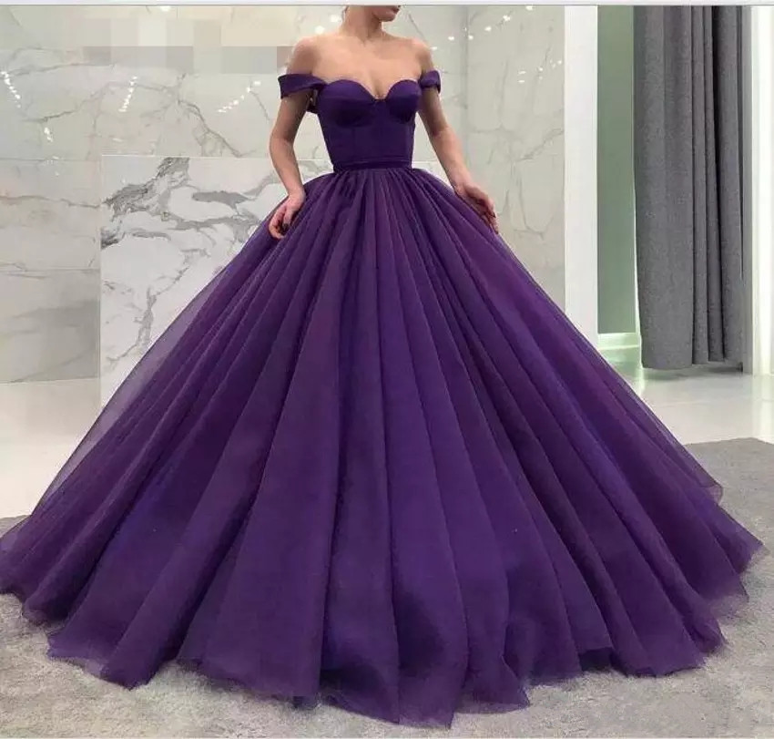 Elegant Ball Gown Quinceanera Dresses off shoulder 2019 Lace up Sweet 16 Prom Dresses Quinceanera Gowns Birthday Party Dresses