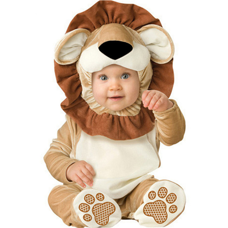 Lovely Animal Outfit for BabygrowInfant Boys Girls Baby Fancy Dress Cosplay Costume Toddler Lion/Dog/Elephant/Tiger brand infants costume series animal clothing set lion monster owl cow clasp elephant kangroo baby cosplay cute free shipping