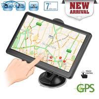 VODOOL Portable 7in Mirror Touch Screen Car GPS Navigator 8GB Sat Nav With North American/European/Australian Free Map