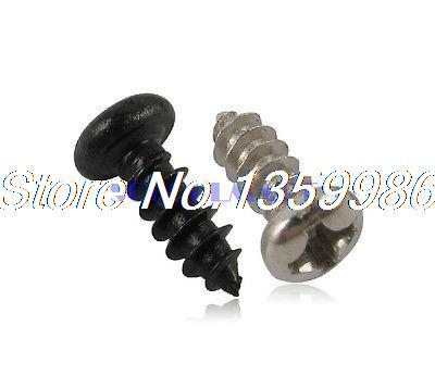 2000Pcs M1.2x3mm Phillips Cross Drive Round Head Self Tapping Electronic Screw